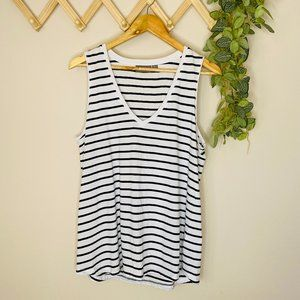 Sussan Size M Striped Relaxed Tunic Top